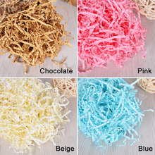 Color silk filled artificial grass Peng Song Raffi paper gift candy box filler fill tool Wedding Party Easter party supplies