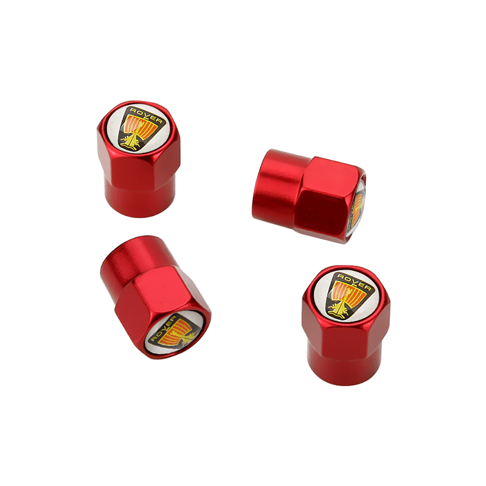 Metal Tire Valve Cap Cover Trim Red For Universal All 2000 2018