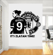 Zlatan Ibrahimovic Football Soccer Player Wall Decal For kid Boys Rooms Stickers Muraux Wall Art Modern Drop Shopping DIY SYY442