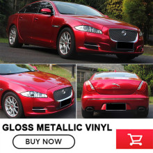 red gloss metallic vinyl wrap Vinyl The same as paint Car Wrap Roll For car1.52x20m/Roll vinil wrap araba color changing(China)