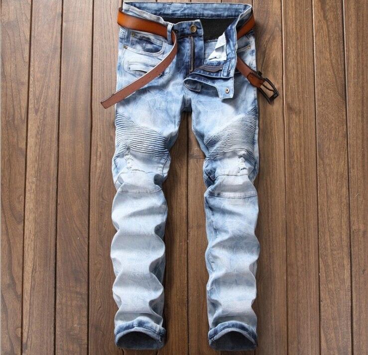 big size 40 42 European American style Mens jeans Straight luxury brand trousers Patchwork slim mens Nightclub blue jeans pantsÎäåæäà è àêñåññóàðû<br><br>