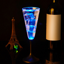 Water Inductive LED Cup Glowing Champagne Beer Wine Drink Liquid Fruit Juice Glass Mug Festival Party Supplies(China)