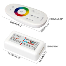 9 key Led RGBW controller 2.4g touch dc12-24v 18a rgb remote control for RGBW led strip Light(China)