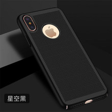 Cooqii Breathing Phone Case For iPhone x cover Shockproof PC Back Covers Super Thin Shell Protective Housing For iPhone x Black(China)
