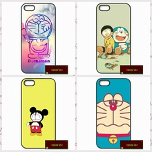 Doraemon Blue Cat Color Coque Phone Cases Cover For iPhone 4 4S 5 5S 5C SE 6 6S 7 Plus 4.7 5.5     #DF0762