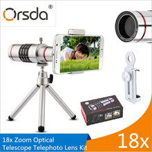 Buy Orsda Mobile Phone Lenses 18x Telescope Camera Zoom Optical Cellphone telephoto Lens iPhone Samsung Huawei Mini Tripod for $25.54 in AliExpress store