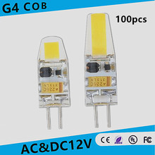 100pcs new High quality AC/DC 12V G4 LED Dimmable 3W 6W NEW COB Corn Light SMD bulb Super bright Replace Halogen Lamp Led Light
