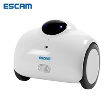 ESCAM Robot QN02 HD 720P WiFi Mini IP Camera Smart WebCam Two-way Talk Tone Modification Remote Control Wireless CCTV Camera