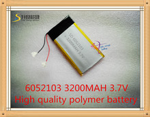 best battery brand SD 6052103 3.7V 3200mAh Lithium Polymer Rechargeable Battery 6MM*52MM*103MM