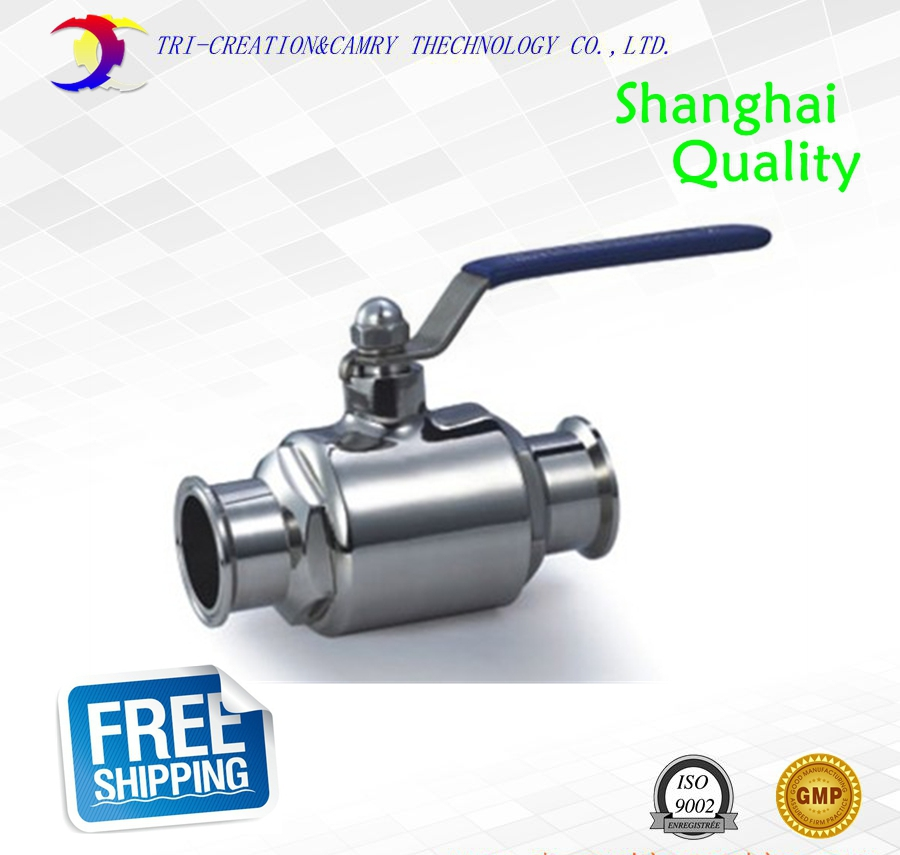 1 DN20 sanitary stainless steel ball valve,2 way 316 quick-installed/food grade manualball valve_handle straight way valve<br>