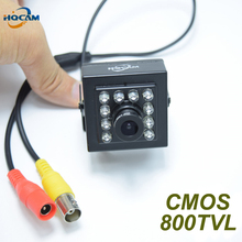 "HQCAM 800TVL 10PCS 940nm led Night vision camera 1/3""Color CMOS HD High Resolution 3.6mm Lens CCTV Camera security mini camera(China)"