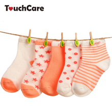 5 Pair/Lot Baby 100% Cotton Socks Spring Summer Princess Lace Mesh Newborns Candy Male Female Ankle Kid's Children Socks(China)