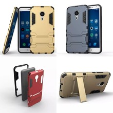 Meizu M5/ M3 Note Impact Cover Iron Man Armor Phone Case Meizu MX5 MX6 Pro 6 Meizu M3S M5S M5C Meizu U10/U20 Stand Holder Case