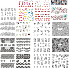 1 Sheet Nail Art Stickers Lace/Cartoon Designs Water Transfer Stickers Beauty Nail Tips Decal Sexy Decor Accessorie LASTZ297-234(China)