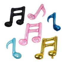 4Pcs/set Musical Note Foil Balloons Children Toys Inflatable Balloon Birthday Wedding Decoration Balls Party Supplies(China)