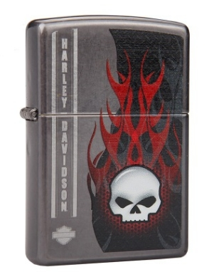 ZHY ZP Genuine lighter Black paint H-D skull flame skeleton(China (Mainland))