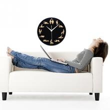 Personality 1Piece Kama Sutra Sex Position Clock / 24Hours Sex Clock / Novelty Wall Clock Home Decoration