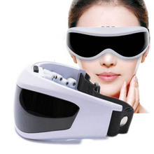 Electric Eye Massager care magnetic Mask anti wrinkle Migraine USB Battery Forehead big eye Health care beauty Vibration massage(China)