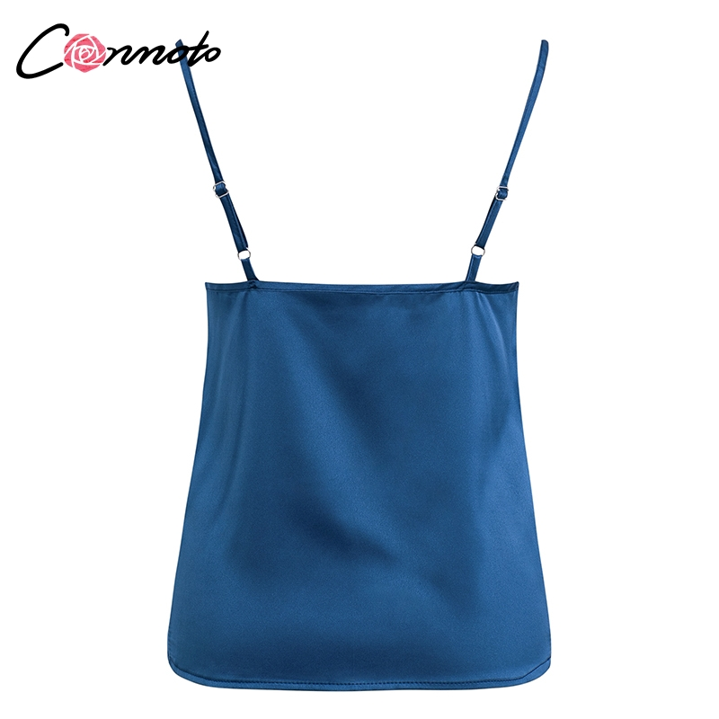 Club Satin Women's Solid Camis Top, Spaghetti Strap, Backless Solid Sexy Casual Basic Top 32