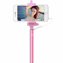 1pcsMini Selfie Stick With Button Wired Handle Monopod Universal For iPhone 6 5 Android For Samsung For Huawei For Xiaomi Sticks