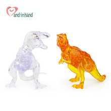 Dinosaur Toys 3D Crystal Puzzles Toys For Kids Boy Birthday Gift DIY Assembled Jigsaw Model Plastic Bricks Jugetes Brinquedos