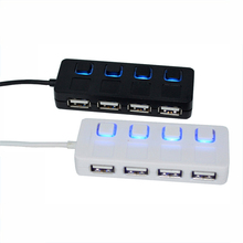 Hot sale High Speed 4 Port USB Hub 2.0 Power Adapter Cable usb hub For PC Laptop Sharing With Power On/Off Switch