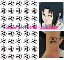 Naruto Uchiha Sasuke Sign Cosplay Temporary Waterproof Tattoo for Halloween Cosplay Costumes Uzumaki Naruto Cosplay Tattoos