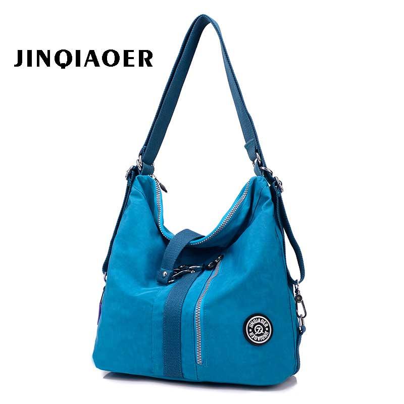 Womens casual Portable shoulder bag  handbag fashion travel women waterproof nylon cloth messenger bag multi pocket bag<br>