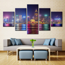 Forbeauty 5 Piece Canvas Painting for Livingroom Cityscape at Market Center Apartments in Dallas Ft Worth TX