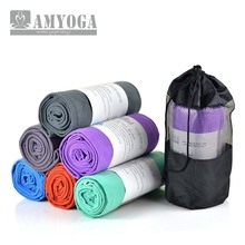 Microfiber double layer fleece yoga towel, fast dry and nice sweat absorb free shipping(China)