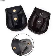 2In1 Black/Brown 1 X Faux leather slingshot pouch Ammo Catapult Steel Balls Bearings Bag Pouch(China)