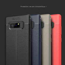 Ultra Slim Cases For Samsung Galaxy Note 8 Case Soft Silicone Litchi Skin Pattern TPU For Galaxy Note 8 Cover For Samsung Note 8(China)