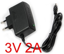 1PCS High quality DC 3V 2A IC program AC 100V-240V Converter Switching power adapter 2000mA Supply EU Plug DC 5.5mm x 2.1-2.5mm