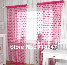 290*280cm Heart Shape String Window Curtains Line Fringe Panel Room Divider Decoration Door Curtain, Ready Made, Free shipping