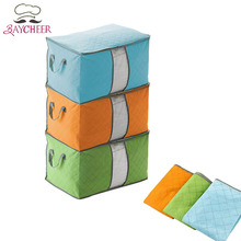 Nonwoven Zipper Quilt Storage Bags For Pillow Blanket Clothing Container Closet Organizer