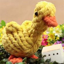 2015 New Practical Dog Knot Cartoon Duck Pet Puppy Rope Dog Cotton Chew Toy Ball Play