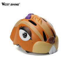 WEST BIKING Rabbit Children's Safety Cycling Skating Scooter Bike Helmet Cartoon Bunny Kids Bicycle Adjustable Sports Helmets