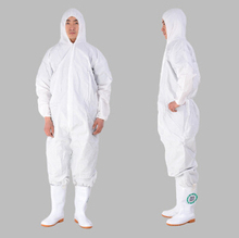 Waterproof and breathable membrane protective clothing Non-woven coverall Dust visit clothing Conjoined biohazard white