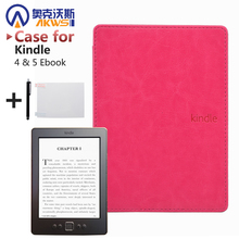 High Strong PU Leather Cover Case for Amazon Kindle 4 & Kindle 5 Ebook  + Screen Protector As gift