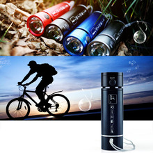 PINDOl Mini Flashlight Waterproof Speaker & Bicycle/Bike Light & Sport Speakers & MP3 Player & FM Radio + Bike Holder