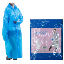 Women EVA Transparent Raincoat Poncho Portable Environmental Raincoat 2017 Fashion Long Use Rain Coat(China)
