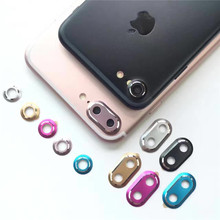 FFFAS Mobile Phone Camera Protector Camera Screen Lens Cover Shell Protect Case for Apple iphone 7 plus silver golden colorful(China)