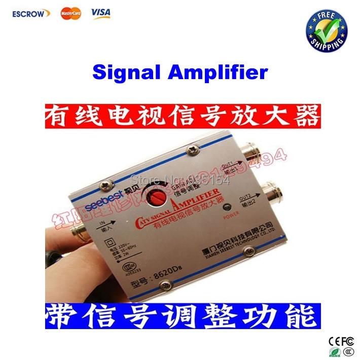 Signal amplifier booster sb-8620d8 belt 2 tv interface 20 adjustable<br><br>Aliexpress