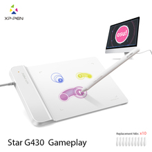 The XP-Pen G430 4 x 3 inch Ultrathin Graphic Drawing Tablet for Game OSU and Battery-free stylus- designed!(China)