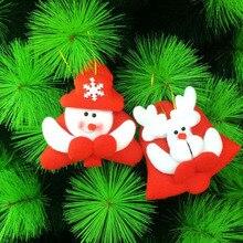 120 Pcs / Lot Cute Little Santa Claus Snowman Bear Deer Pendant christmas tree decorations hanging ornaments XMAS home party