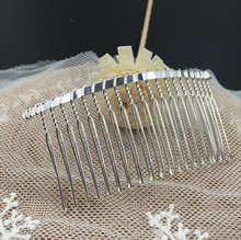 80*40MM 20PCS (Silver Color) Metal Hair Comb Claw Hairpins DIY Hair Accessories Findings & Components