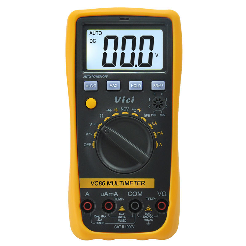 VICI VICHY VC86 Digital Multimeter Auto Range DMM Temperature Meter w/NCV hFE Test &amp; LCD Backlight<br><br>Aliexpress