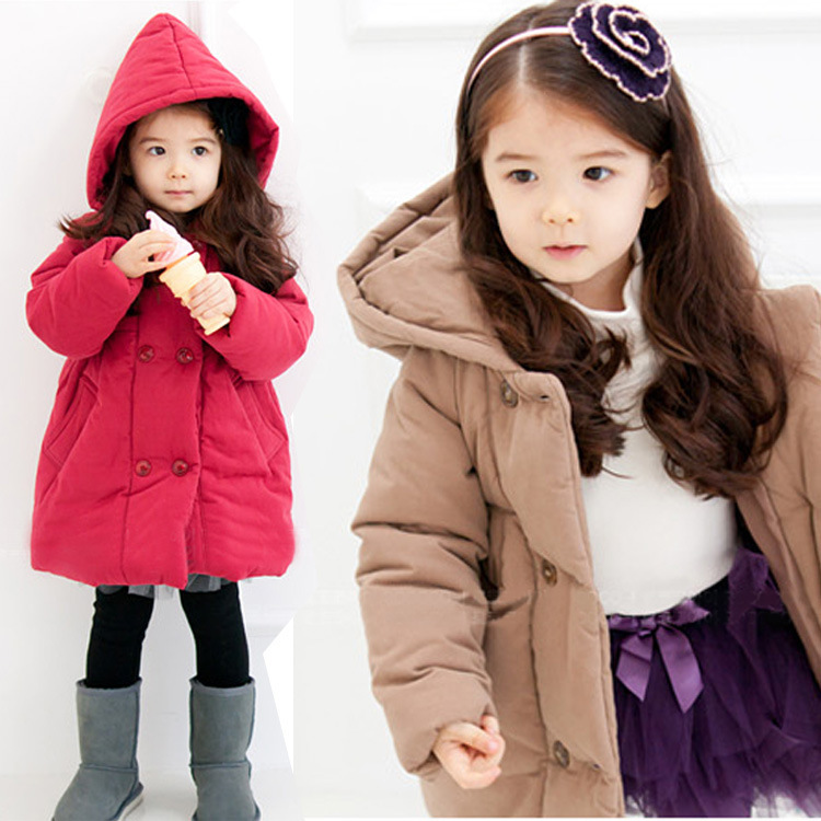 Free shipping New arrival  winter girl quilted thickening long hooded jacket cotton-padded outerwear children clothingsОдежда и ак�е��уары<br><br><br>Aliexpress