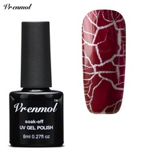 Vrenmol 1pcs Cracking Nail gel 12 Colors Gel Lacquer Professional Crackle Shatter Gel Nails Polish need top base coat(China)