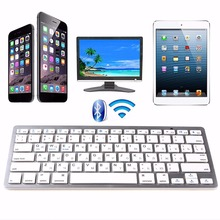 Russian Mini Wireless Bluetooth 3.0 Slim Keyboard For Mac Windows PC Tablet